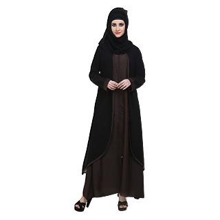 Abaya- Front open double layered