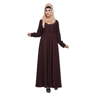 Flared abaya- Maroon color