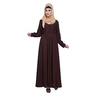 Flared abaya- Maroon color