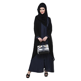 Abaya- Front open burqa with zipper