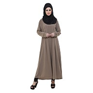 Pleated abaya- Fawn color