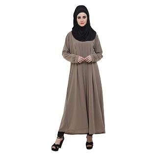 Pleated Abaya- Fawn Color
