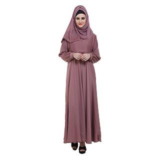 Designer Flare abaya- Bay Pink