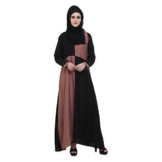 BLack & Badami Box Style Abaya