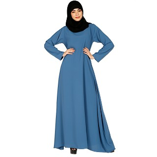 A-line inner abaya with a complementary Hijab- French Blue