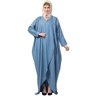 Loose fit Denim abaya