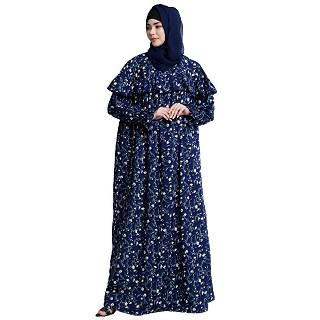 Loose fit printed maxi dress
