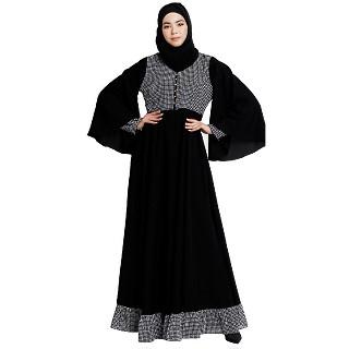Dual colored Designer abaya