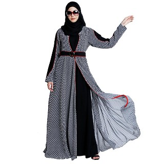 Double layered umbrella abaya