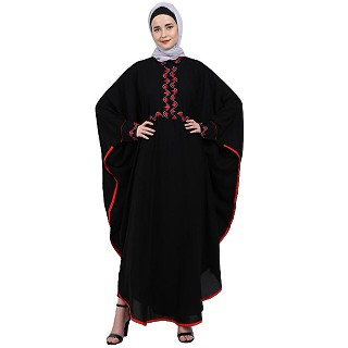 Classic Kaftan with embroidery work- Black