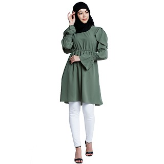 Designer modest tunic- Jade Green