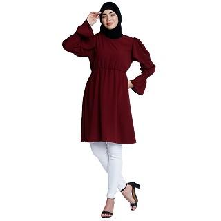 Designer modest tunic- Maroon