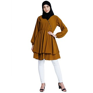 Modest designer tunic- Mustard