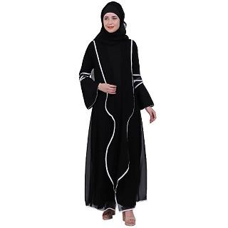 Georgette Shrug with Inner abaya- Black