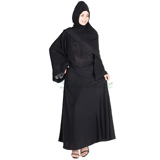 Nida Abaya- Elephant sleeves with printed inner