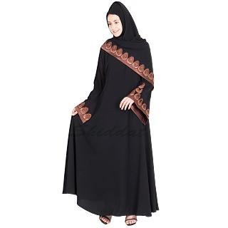 Nida niqab- areal shape with hand embroidery work