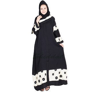 Dubai style embroidered abaya with scarf