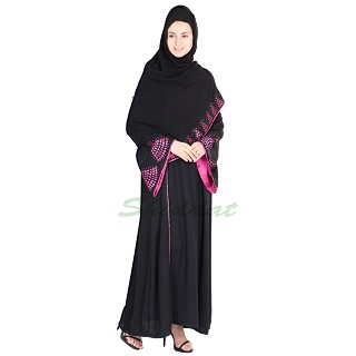 Abaya with laser cut work