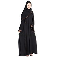 Umbrella  abaya with side adjustment button