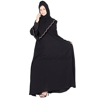 Full flared umbrella burqa- Nidha fabric