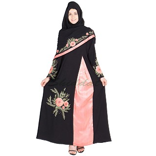 Nidha abaya -  Embroidered party wear burqa
