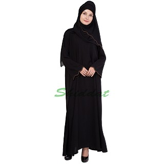 Umbrella Sleeves Abaya - Firdous Fabric