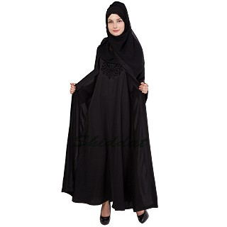 Double layered abaya dress