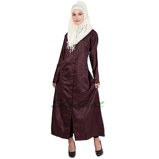 Party wear Abaya- Luxury Solid Plain Coloured