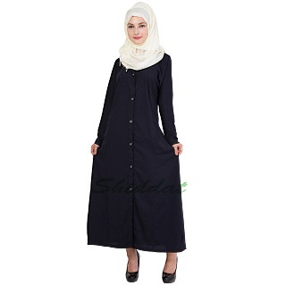 Islamic dress- navy blue color coat style abaya