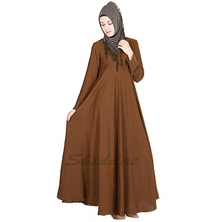 Umbrella Abaya- Brown Colored