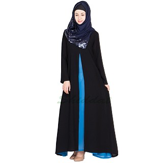 Abaya- double layered umbrella cut in georgette fabric