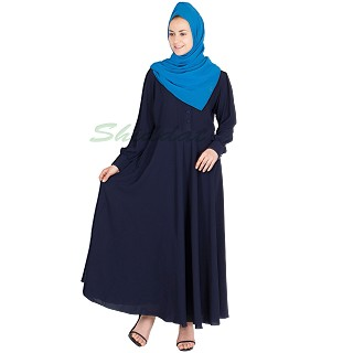 Umbrella Abaya- Navy Blue Colored