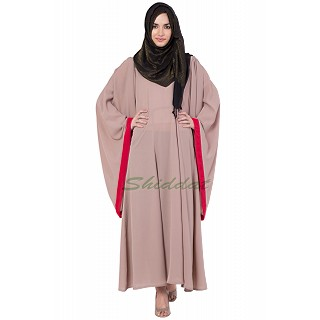 Kaftan - Peach Color with red border