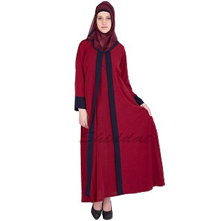 Elegant Cherry Colored abaya