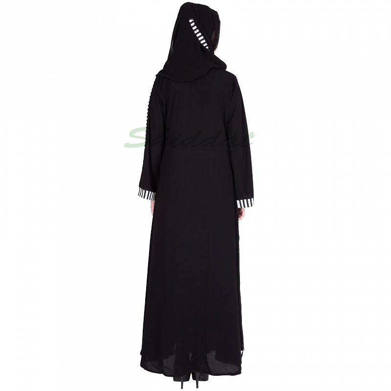 Buy Black colored Pleated Kaftan : Burqa : Abaya online in India : shiddat.com