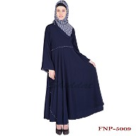 Umbrella cut abaya- Crepe