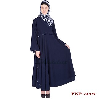 Umbrella cut abaya- geogette