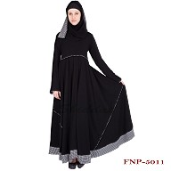 Umbrella abaya- Black colored