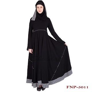 Umbrella abaya- Black colored