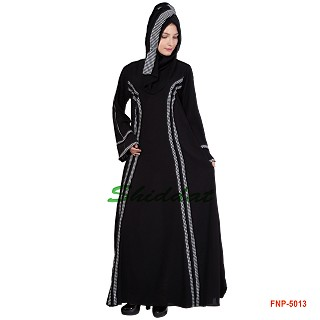 Princess cut abaya