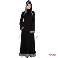 Full flared abaya - Black color
