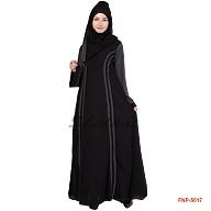 Princess cut abaya with Bobby print