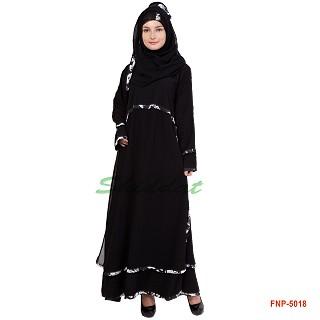 Frock Style Abaya- Double Layered