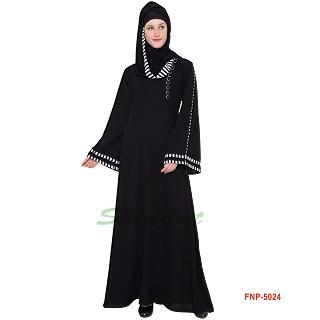 Casual abaya- Black