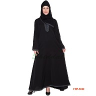 Simple Black Abaya- Nida Fabric