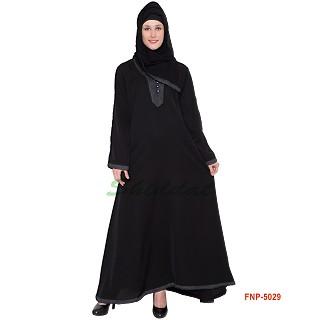 Simple Black Abaya- Nida Fabric