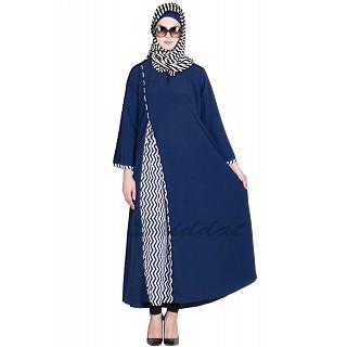 Dual colored abaya