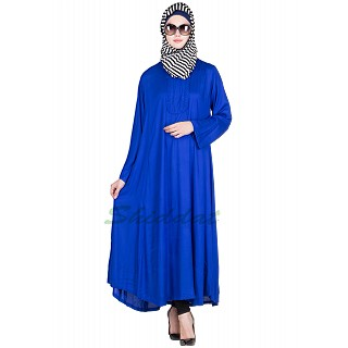 Umbrella Abaya- Royal Blue Colored