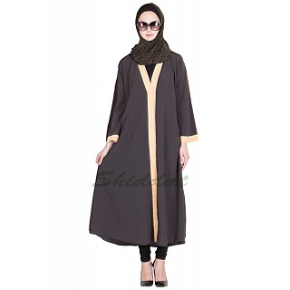 Front open Black Colored Abaya