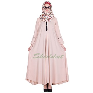 Elegant Pink color Abaya - Fabric Crepe Jersey